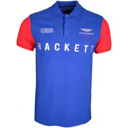 Vêtements Homme Polos manches courtes Hackett Polo  Aston Martin bleu roi manches rouge GB pour homme Bleu