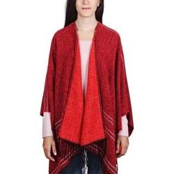 Vêtements Femme Pulls Qualicoq Poncho Tanata - Couleur - Rouge - Fabriqué en France Rouge