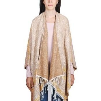 Accessoires textile Femme Echarpes / Etoles / Foulards Qualicoq Poncho Tanata - Couleur - Beige - Fabriqué en France Beige