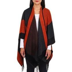 Vêtements Femme Pulls Qualicoq Poncho Loan - Couleur - Orange - Fabriqué en France Orange