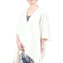 Vêtements Femme Pulls Qualicoq Poncho poches Casa - Couleur - Blanc - Fabriqué en France Blanc