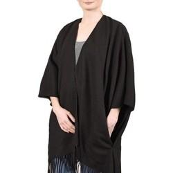 Vêtements Femme Pulls Qualicoq Poncho poches Casa - Couleur - Noir - Fabriqué en France Noir