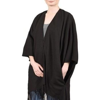 Vêtements Femme Pulls Qualicoq Poncho poches Casa Noir