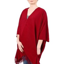 Vêtements Femme Pulls Qualicoq Poncho poches Casa - Couleur - Rouge - Fabriqué en France Rouge