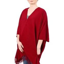 Vêtements Femme Pulls Qualicoq Poncho poches Casa Rouge