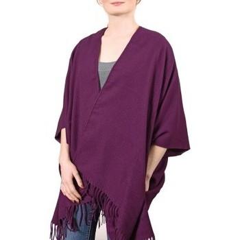 Vêtements Femme Pulls Qualicoq Poncho poches Casa - Couleur - Prune - Fabriqué en France Prune