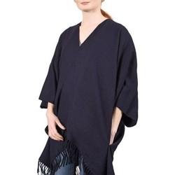 Vêtements Femme Pulls Qualicoq Poncho poches Casa - Couleur - Marine - Fabriqué en France Marine