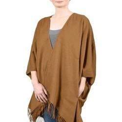 Vêtements Femme Pulls Qualicoq Poncho poches Casa - Couleur - Camel - Fabriqué en France Camel