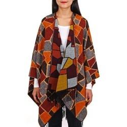 Vêtements Femme Pulls Qualicoq Poncho Nostra - Couleur - Orange - Fabriqué en France Orange