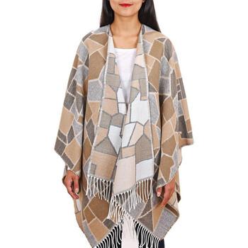 Vêtements Femme Pulls Qualicoq Poncho Nostra - Couleur - Beige - Fabriqué en France Beige