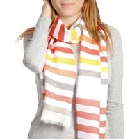 Accessoires textile Femme Echarpes / Etoles / Foulards Qualicoq Echarpe légère Cotignac Orange