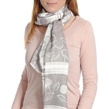 Accessoires textile Femme Echarpes / Etoles / Foulards Qualicoq Echarpe légère Griotte - Couleur - Gris - Fabriqué en France Gris