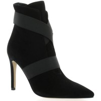Chaussures Femme Bottines Fremilu Boots cuir velours Noir