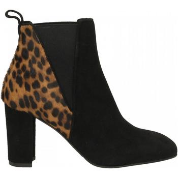Chaussures Femme Bottines Albano CAMOSCIO nero