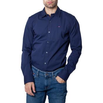 Vêtements Homme Chemises manches longues Tommy Hilfiger DM0DM04405 bleu