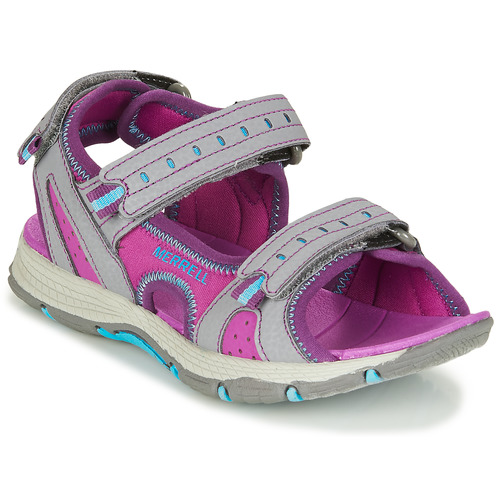 Chaussures Fille Sandales sport Merrell PANTHER SANDAL 2.0 Rose / Gris