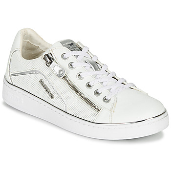 Chaussures Femme Baskets basses Mustang  Blanc / Argent