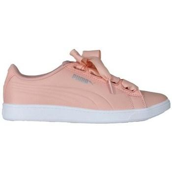 Chaussures Femme Baskets basses Puma Vikky V2 Ribbon Blanc,Rose