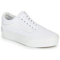 Chaussures Femme Baskets basses Vans OLD SKOOL PLATFORM Blanc