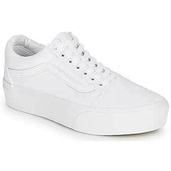 Chaussures Femme Baskets basses Vans UA Old Skool Platform Blanc