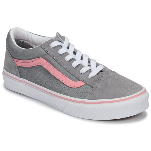 Chaussures Fille Baskets basses Vans OLD SKOOL Gris / Rose