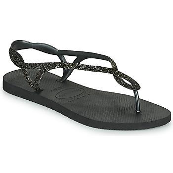 Chaussures Femme Tongs Havaianas LUNA PREMIUM Noir