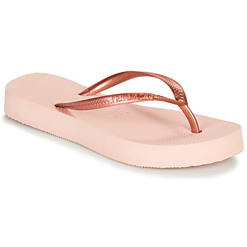 Chaussures Femme Tongs Havaianas SLIM FLATFORM BALLET ROSE