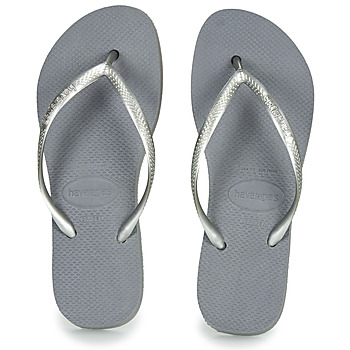 Chaussures Femme Tongs Havaianas SLIM FLATFORM Gris
