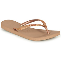 Chaussures Femme Tongs Havaianas SLIM GLITTER Rose gold