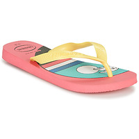 Chaussures Femme Tongs Havaianas TOP VIBES Rose / Jaune