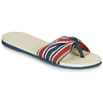 Chaussures Femme Tongs Havaianas YOU ST. TROPEZ FITA Beige / Marine / Rouge