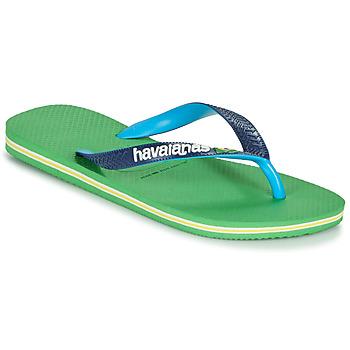 Chaussures Tongs Havaianas BRASIL MIX Vert / Bleu