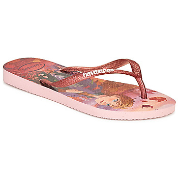 Chaussures Fille Tongs Havaianas KIDS SLIM FROZEN Rose