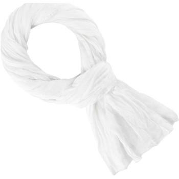 Accessoires textile Echarpes / Etoles / Foulards Allée Du Foulard Chèche coton uni Blanc