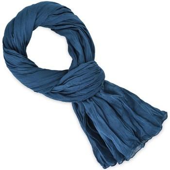Accessoires textile Echarpes / Etoles / Foulards Allée Du Foulard Chèche coton uni Bleu vintage