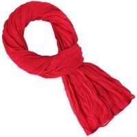 Accessoires textile Echarpes / Etoles / Foulards Allée Du Foulard Chèche coton uni Rouge coquelicot