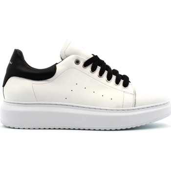 Chaussures Homme Baskets basses Exton  Bianco / nero