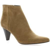 Chaussures Femme Bottines Vidi Studio Boots cuir velours Camel