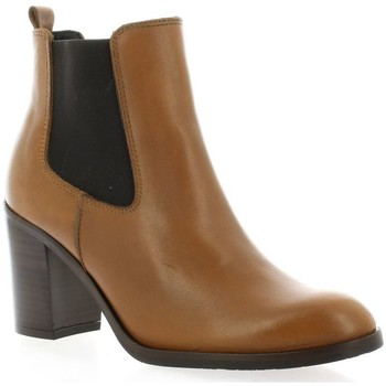 Chaussures Femme Boots Exit Boots cuir Cognac