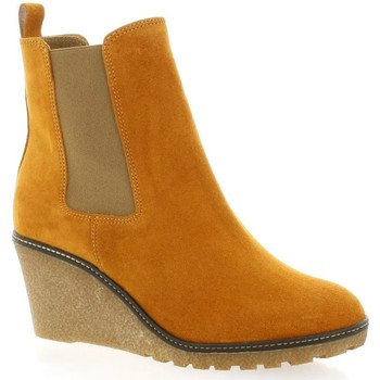 Chaussures Femme Boots Exit Boots cuir velours  ocre Ocre