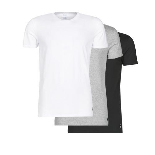 Vêtements Homme T-shirts manches courtes Polo Ralph Lauren WHITE/BLACK/ANDOVER HTHR pack de Noir / Gris / Blanc