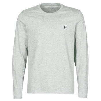 Vêtements Homme T-shirts manches courtes Polo Ralph Lauren L/S CREW-CREW-SLEEP TOP Gris