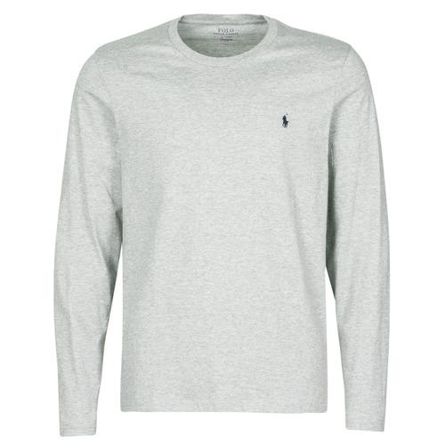 Vêtements Homme T-shirts manches courtes Polo Ralph Lauren L/S CREW-CREW-SLEEP TOP Gris