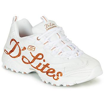 Chaussures Femme Baskets basses Skechers D'LITES White