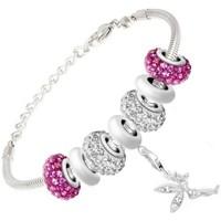 Montres & Bijoux Femme Bracelets Sc Crystal SB050+29+43+31+44+CH167+31+43+29 Argenté