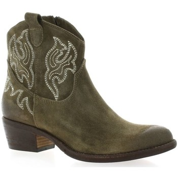 Chaussures Femme Bottines Paoyama Boots cuir velours Taupe