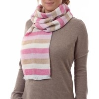 Accessoires textile Femme Echarpes / Etoles / Foulards Qualicoq Echarpe Tessa - Couleur - Crème - Fabriqué en France Crème