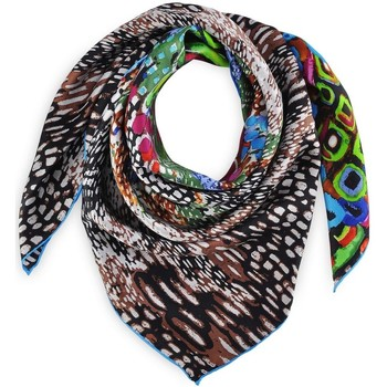 Accessoires textile Femme Echarpes / Etoles / Foulards Silkart Carré de soie Abstraction Multicolore
