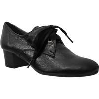 Chaussures Femme Derbies Folies Macao Noir cuir