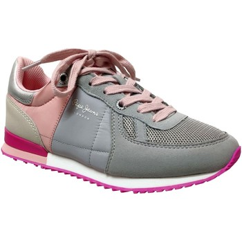 Chaussures Fille Baskets basses Pepe jeans Sydney basic girl e Gris